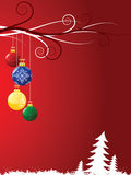 Christmas toys swirls. Vector illustration Royalty Free Stock Images
