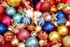 Christmas toys texture background Royalty Free Stock Photo