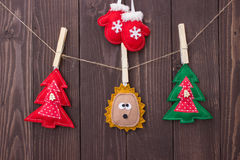 Christmas toys with their own hands Royalty Free Stock Images