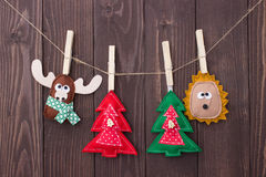 Christmas toys with their own hands Stock Image