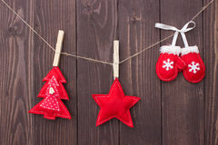 Christmas toys with their own hands Royalty Free Stock Image
