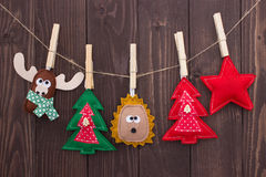 Christmas toys with their own hands Royalty Free Stock Photos