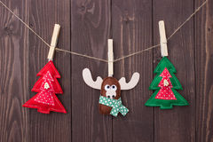 Christmas toys with their own hands Royalty Free Stock Photography