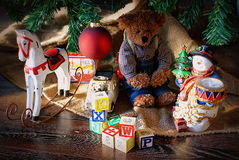 Christmas Toys. Christmas time always bring childhood memories flooding back. We all hold dear those moments as a child  waking up Christmas morning and rushing Stock Photography