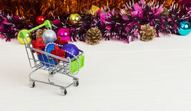 Christmas toys in the truck, new year, christmas, gifts Stock Images