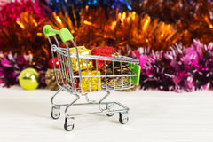 Christmas toys in the truck, new year, christmas, gifts Royalty Free Stock Photos