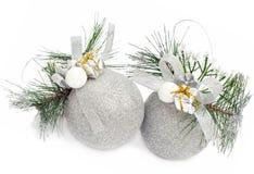 Christmas toys on the white Stock Image