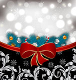 Christmas traditional background with decoration Royalty Free Stock Images