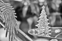 Christmas  traditional in black and white Royalty Free Stock Image