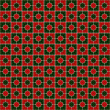 Christmas traditional colors square chain abstract background. Mosaic wallpaper. Geometric seamless pattern. Christmas traditional colors square chain abstract Royalty Free Stock Image