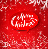 Christmas traditional festive objects and banner Stock Photos