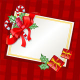 Christmas traditional greeting card. Vector illustration which may be used as greeting card Royalty Free Stock Images