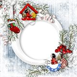 Christmas traditional greeting card royalty free stock photography