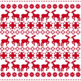 Christmas traditional pattern with deers vector Stock Photos