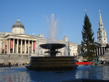Christmas in trafalgar square stock photography