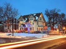 Christmas traffic in Minneapolis Royalty Free Stock Photos