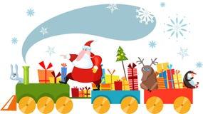 Christmas train stock illustration