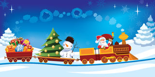 Christmas train Stock Illustration