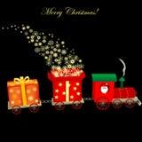 Christmas train Stock Image