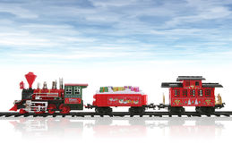 Christmas Train Stock Photos