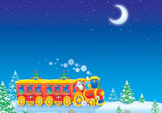 Christmas train Stock Image