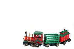 Christmas Train. Decoration isolated on white background Royalty Free Stock Photos