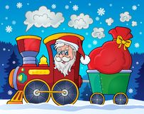 Christmas train theme image 2 Stock Photography