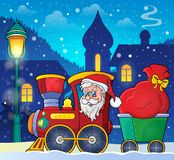 Christmas train theme image 3 Royalty Free Stock Photos