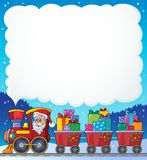 Christmas train theme image 6. Eps10 vector illustration Stock Image