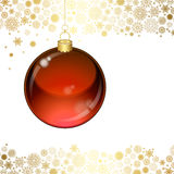 Christmas transparent ball Stock Photography