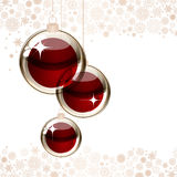 Christmas transparent ball Stock Photo