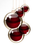 Christmas transparent balls Royalty Free Stock Photos
