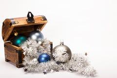 Christmas Treasure Chest Xmas Balls Decoration Stock Images