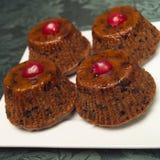 Christmas treats. Mini nutty fruity christmas cakes Stock Images