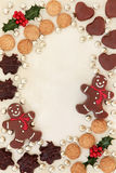 Christmas Treats Border Royalty Free Stock Images