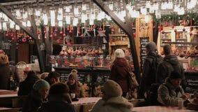 Christmas treats, Budapest, Hungary stock footage
