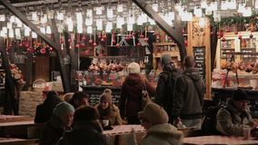 Christmas treats, Budapest, Hungary stock video
