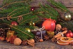 Christmas treats, dessert and decorations Royalty Free Stock Photos