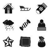 Christmas treats icons set, simple style Stock Image