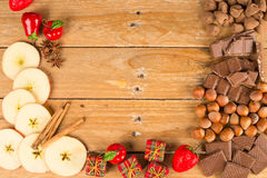 Christmas treats and nuts Stock Photo