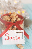 Christmas treats  in the shape of bears Royalty Free Stock Image