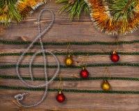 Christmas treble clef Royalty Free Stock Photography
