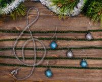 Christmas treble clef Royalty Free Stock Photo