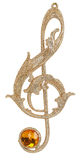Christmas treble clef toy. Isolated on white background Stock Photography