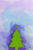 Christmas tree – watercolor texture Stock Images