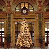 Christmas tree 1. Christmas tree in lobby Pittsburgh PA Stock Photo