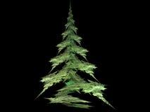 Christmas Tree. Fractal design shaped like a christmas tree royalty free illustration