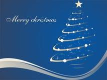 Christmas tree. Vector illustration of christmas background Stock Photos