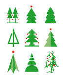 Christmas tree. Icons vector format Royalty Free Stock Photography