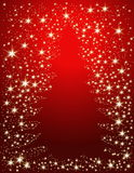 Christmas tree. Background with stars Royalty Free Stock Photography